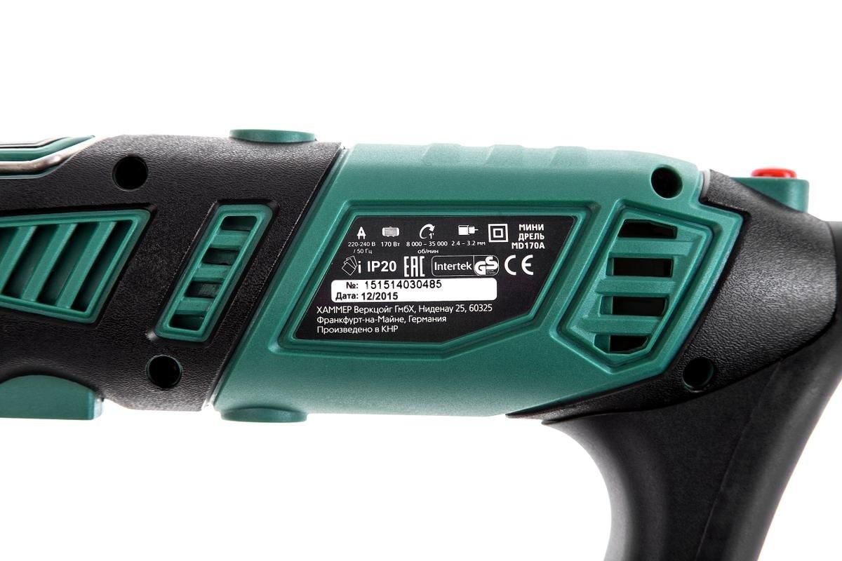 дрель hammer flex md170a