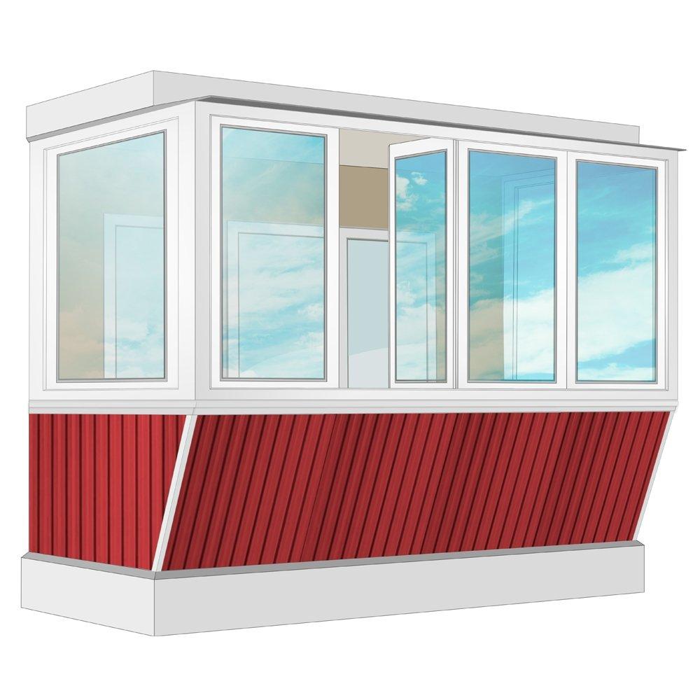 Остекление балкона пвх exprof с выносом и отделкой пвх-панел.
