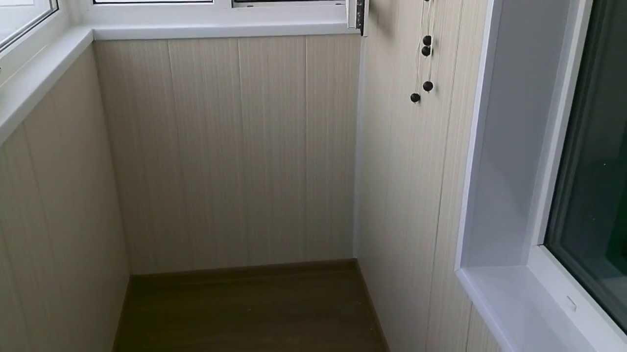 Остекление балкона пвх rehau с отделкой пвх-панелями без уте.