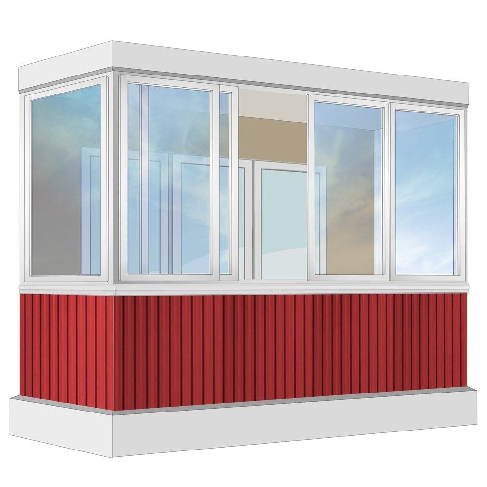 Остекление балкона алюминиевое provedal с отделкой пвх-панел.